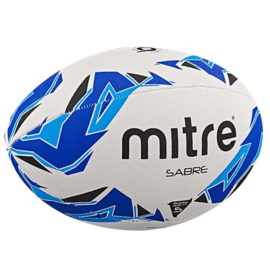 mitre Mitre Saber Rugby Ball Size 4, White/Blue