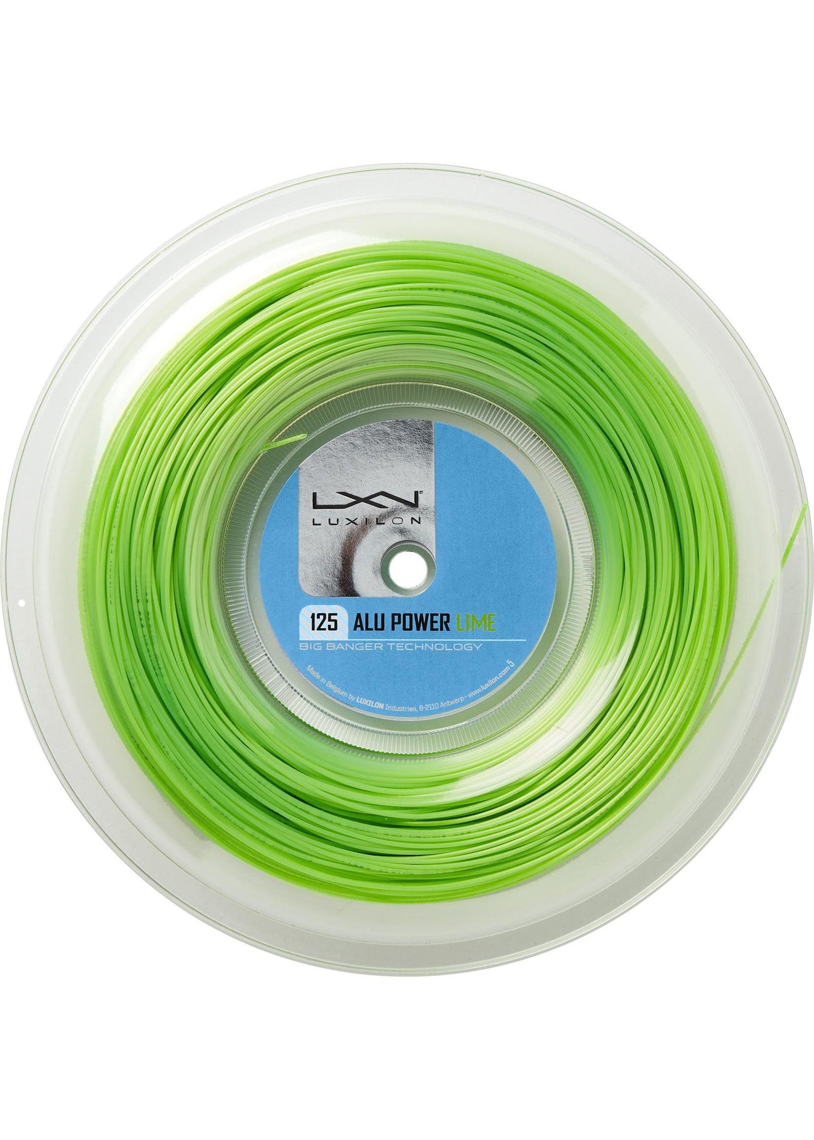 Luxilon Luxilon Alu Power 125 200m Reel, Lime (2020)
