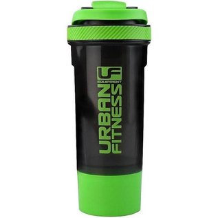 UFE 2in1 Protein Shaker 700ml, Black/Green