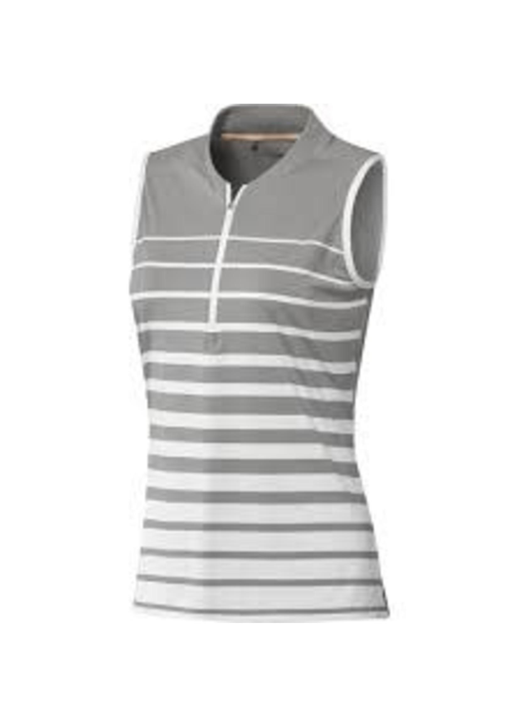 Adidas Adidas FP7699 Sleeveless Polo Shirt Engineered Stripe Grey (2020)