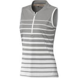 Adidas Adidas FP7699 Sleeveless Polo Shirt Engineered Stripe Grey (2020)