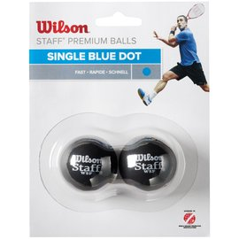 Wilson Wilson Staff Blue Dot Squash Ball - Pack of 2