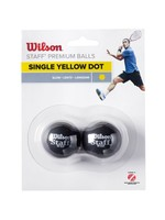 Wilson Wilson Staff Single Yellow Dot Squash Ball - Pack of 2