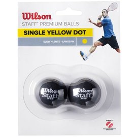Wilson Wilson Staff Single Yellow Dot Squash Ball - Pack of 2
