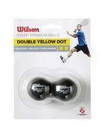 Wilson Wilson Staff Double Yellow Dot Squash Ball - Pack of 2