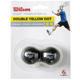 Wilson Wilson Staff Double Yellow Dot Squash Ball - Pack of 2