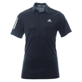 Adidas Adidas 3 Stripe Basic Mens Golf Polo Shirt, Navy  (2020)