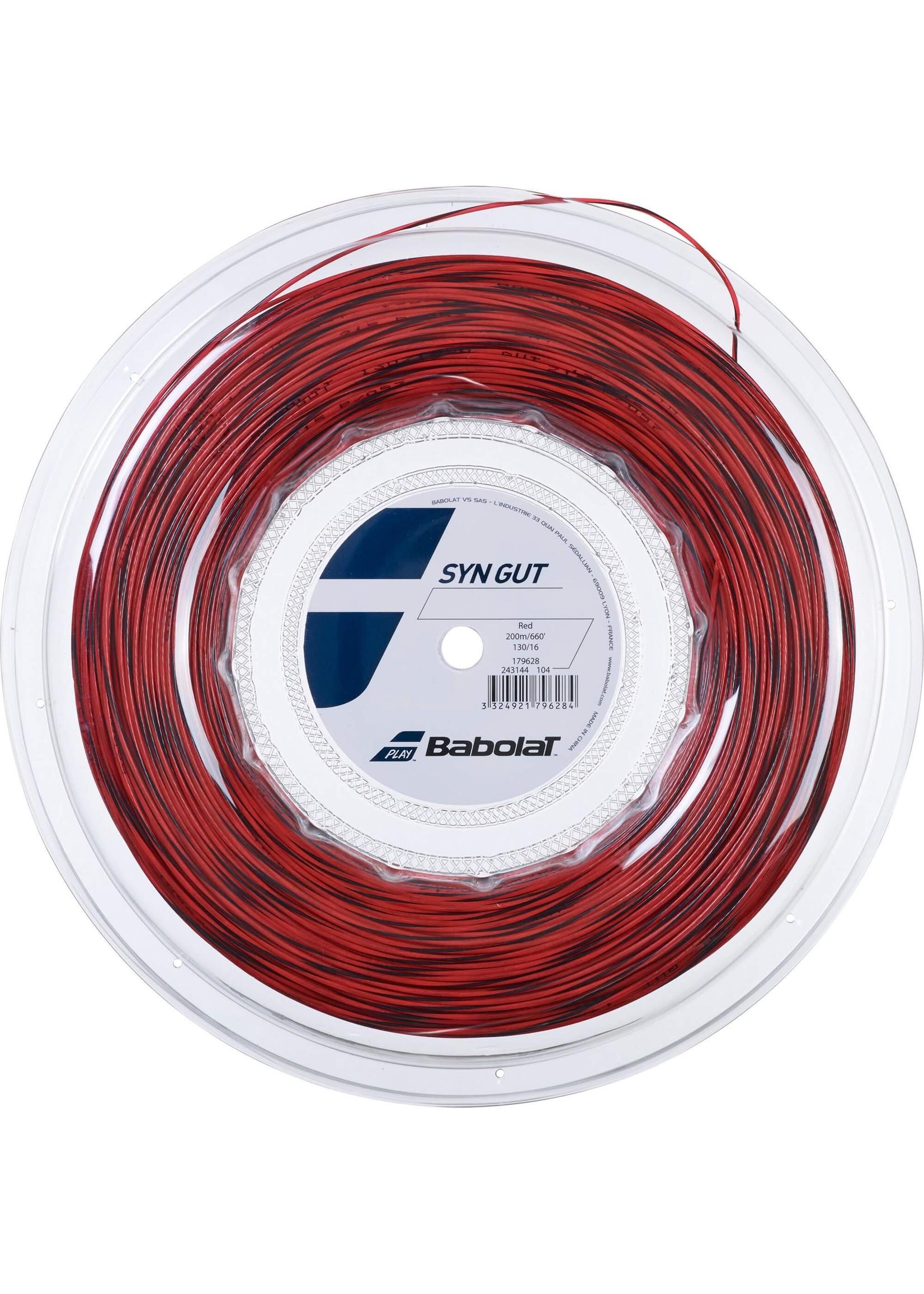 Babolat Babolat Syn Gut Tennis String - 200m Reel (Red)
