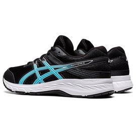 Asics Asics Contend GS Junior Running Shoe, Black/Ocean Decay