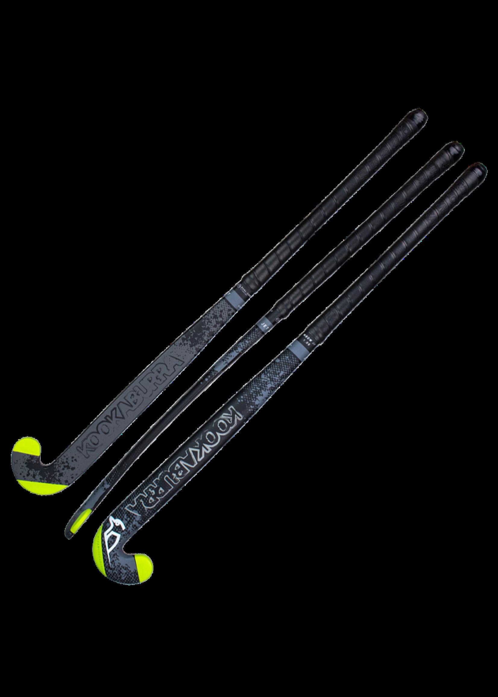 """Kookaburra Kookaburra Jet Hockey Stick 36.5L"""", Black/Grey (2020)"""