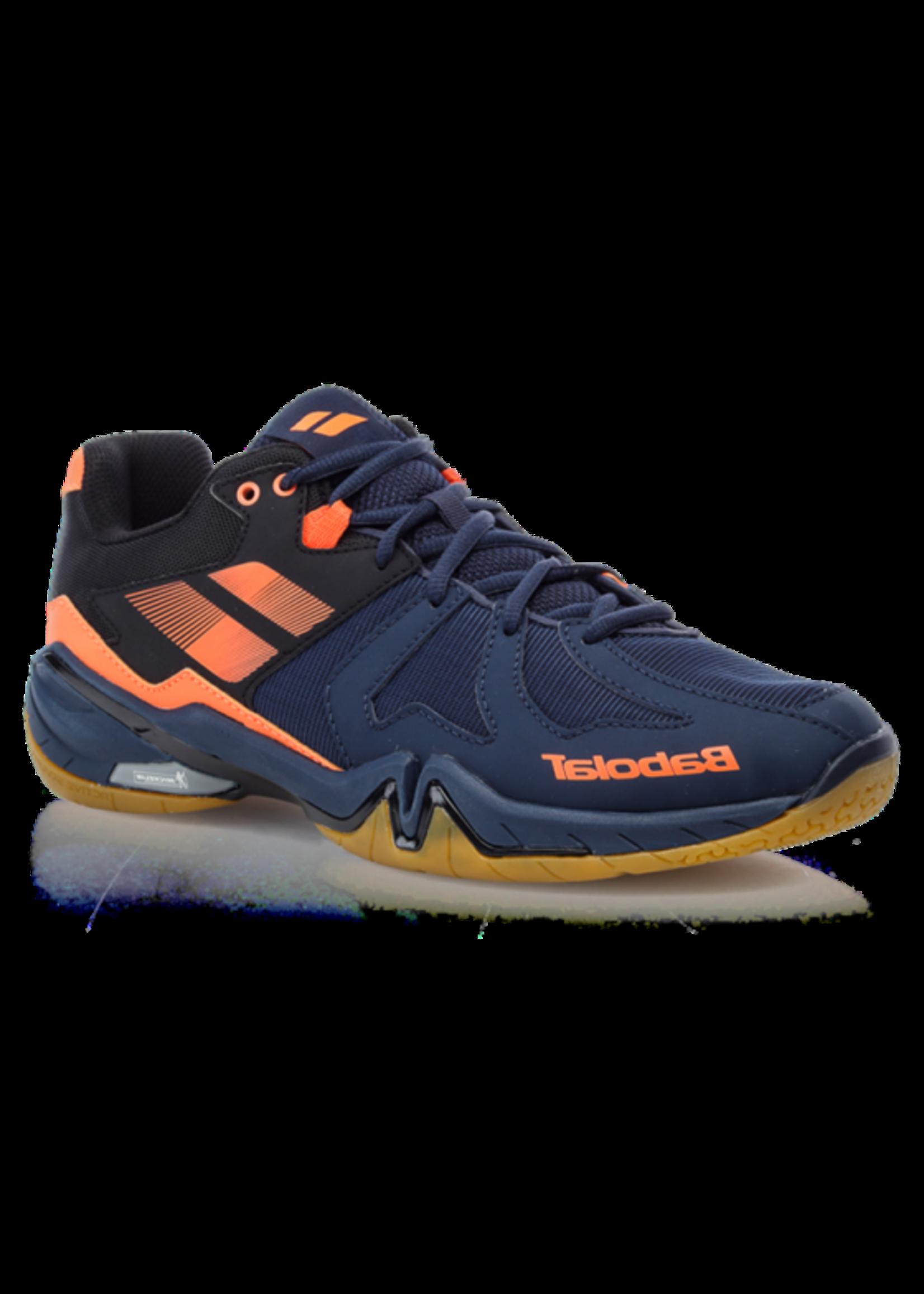 Babolat Babolat Shadow Spirit Mens Indoor Shoe (2018) Navy Blue/Fluo Orange 7.5