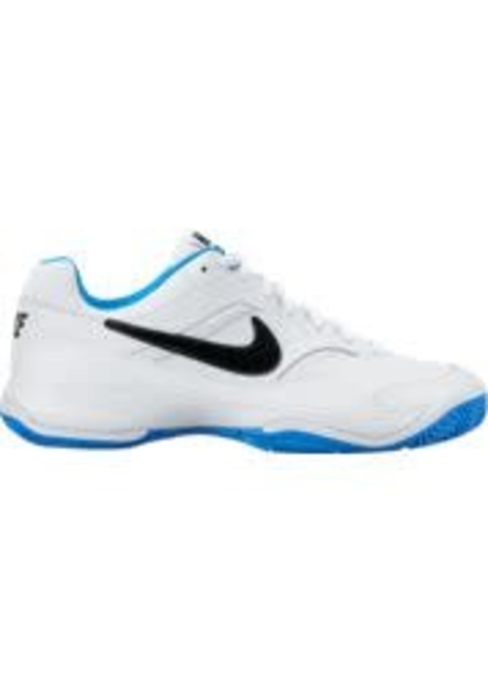 Nike Mens Court Lite Tennis Shoe White/Black/Blue 11