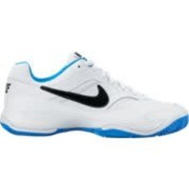 Nike Mens Court Lite Tennis Shoe White/Black/Blue 11