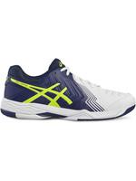 Asics Asics Gel Game 6 Mens Tennis Shoe White/Blue/Yellow 7