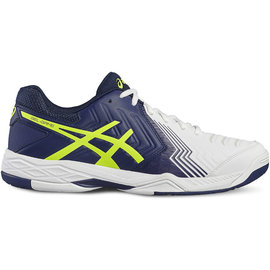 Asics Asics Gel Game 6 Mens Tennis Shoe White/Blue/Yellow 7