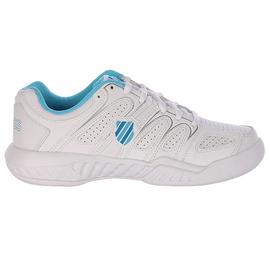 K Swiss K-swiss Calabasas Omni Ladies Tennis Shoe White / Light Blue 5.5