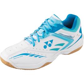 Yonex Yonex SHB 34 LX Ladies Badminton Shoe White/Light Blue 8UK