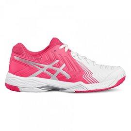 Asics Asics Gel Game 6 Ladies Tennis Shoe White/Pink/Silver 5