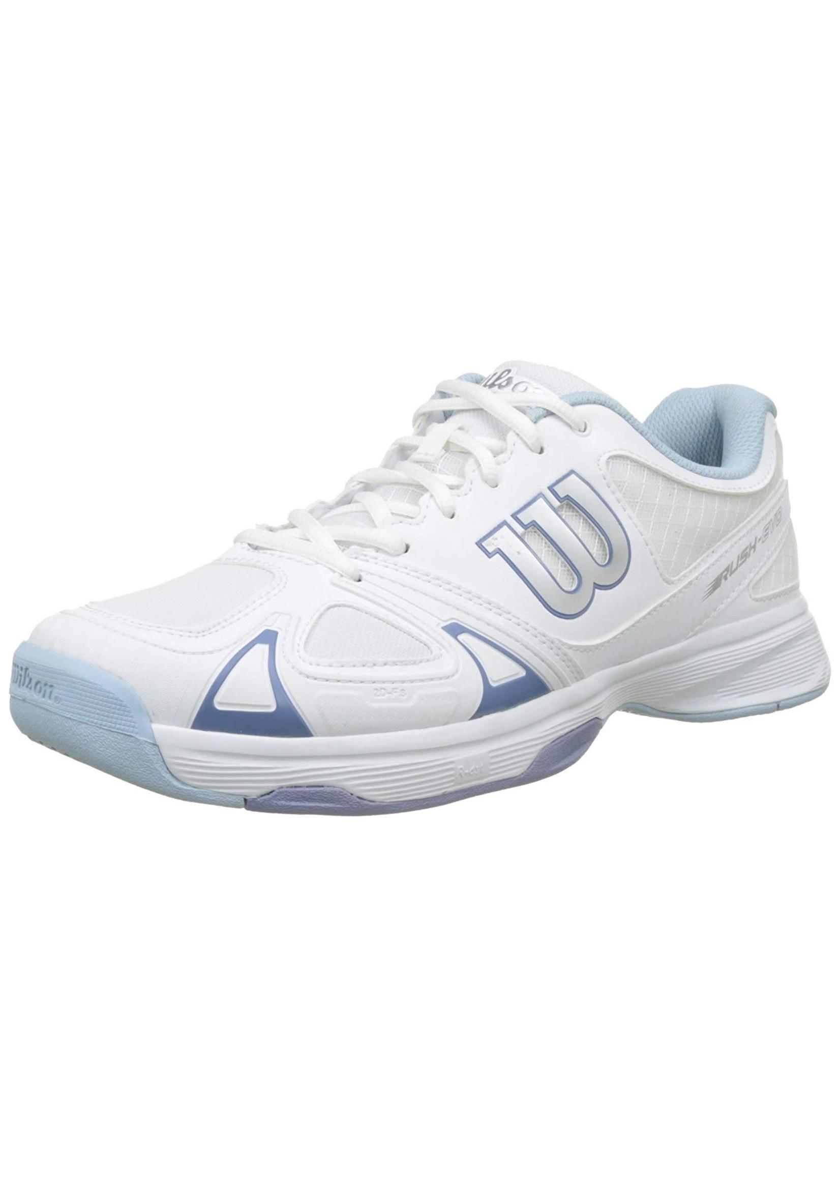 Wilson Ladies Rush Evo Tennis Shoe White/ Stone Wash 5.5