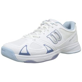 Wilson Ladies Rush Evo Tennis Shoe White/ Stone Wash 5.5