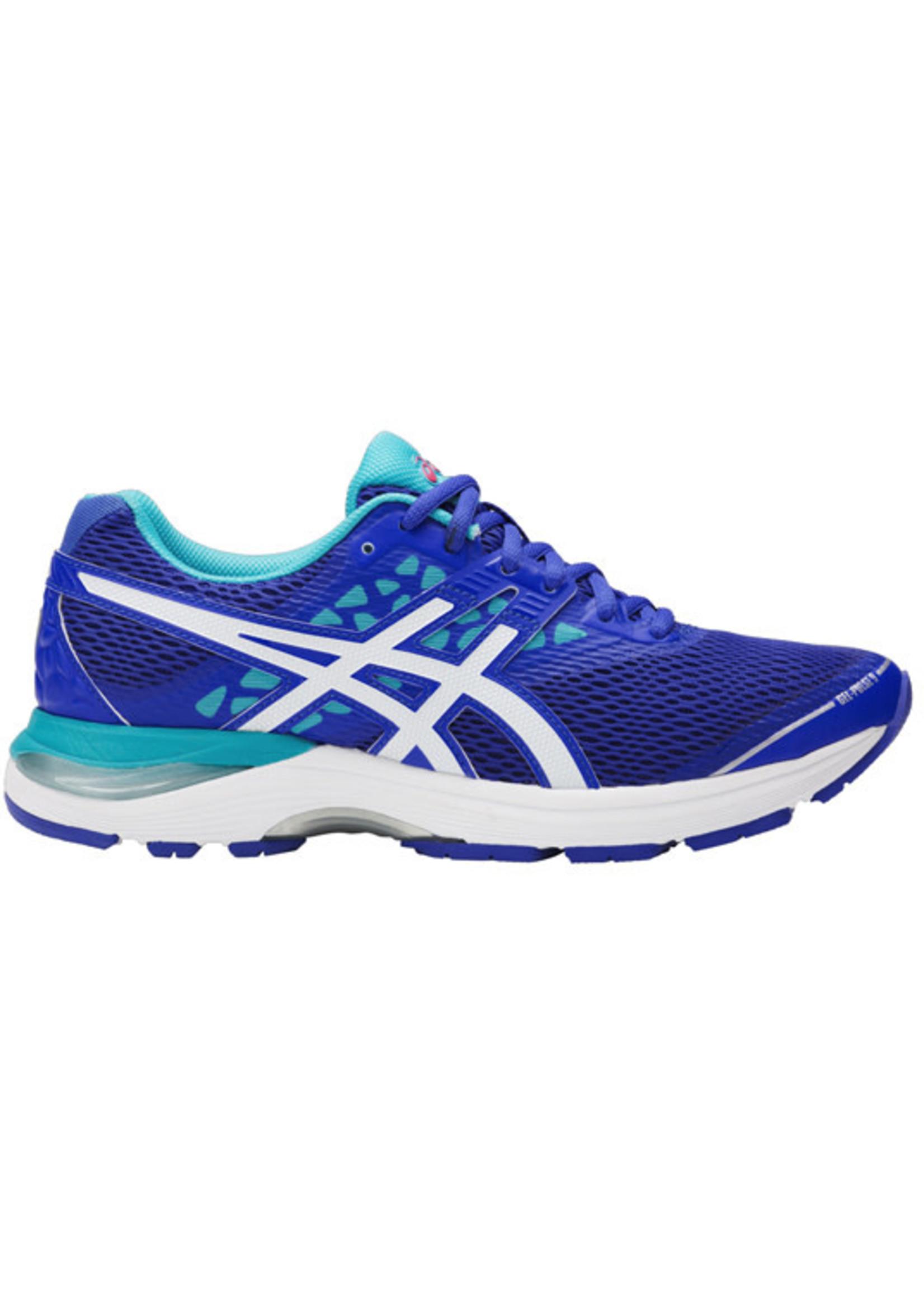 Asics Asics Ladies Gel-Pulse 9 Running Shoe Blue Purple/White/Aquarium 5.5