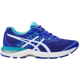 Asics Asics Ladies Gel-Pulse 9 Running Shoe Blue Purple/White/Aquarium 5.5