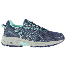 Asics Asics Gel-Venture 6 Ladies Trail Running Shoes (2019) Indogi Blue/Aruba Blue/Mid Grey 6.5