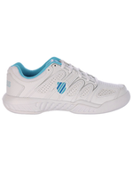 K Swiss K-swiss Calabasas Omni Ladies Tennis Shoe White / Light Blue 6.5