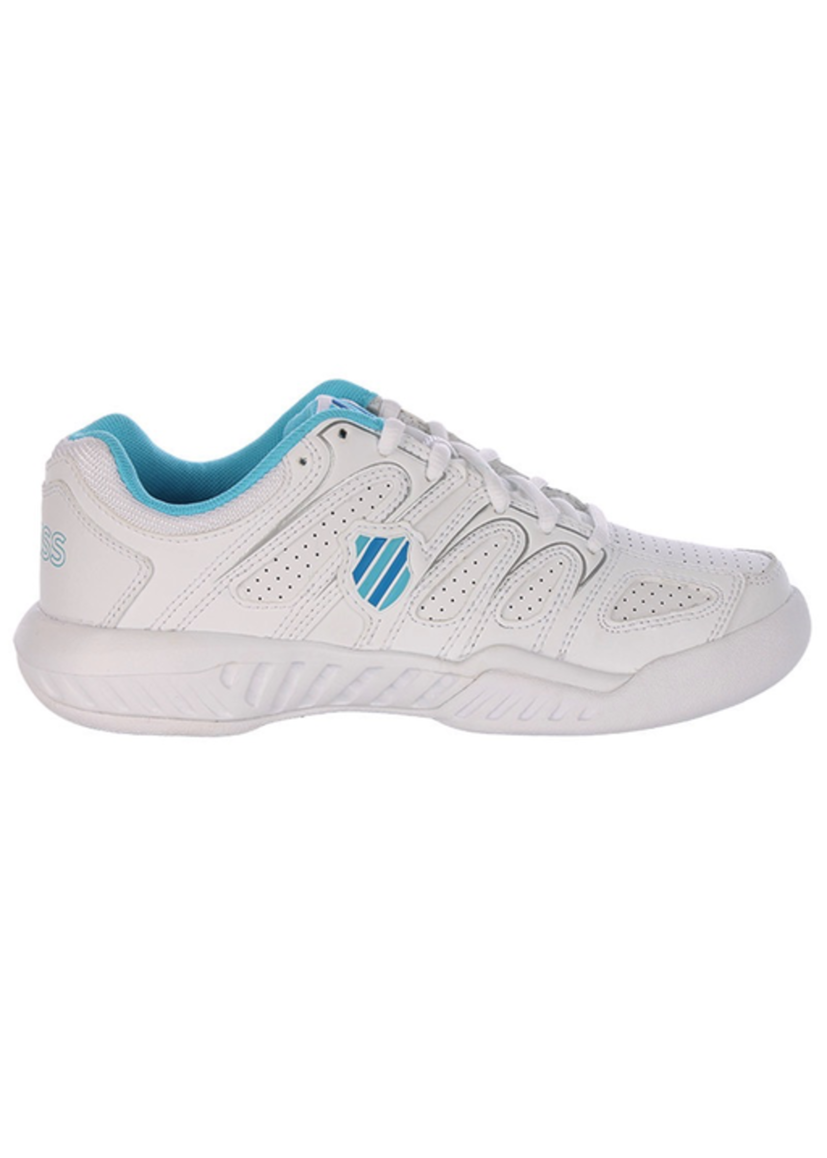 K Swiss K-swiss Calabasas Omni Ladies Tennis Shoe White / Light Blue 6.5