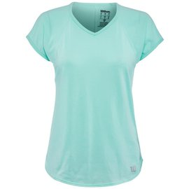 Wilson Wilson Training V-Neck Ladies Tennis Tee  (2019) Island Paradise XL