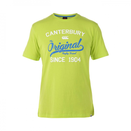 Canterbury Canterbury Original Rugby Tee Mens T-shirt. Lime Punch XL