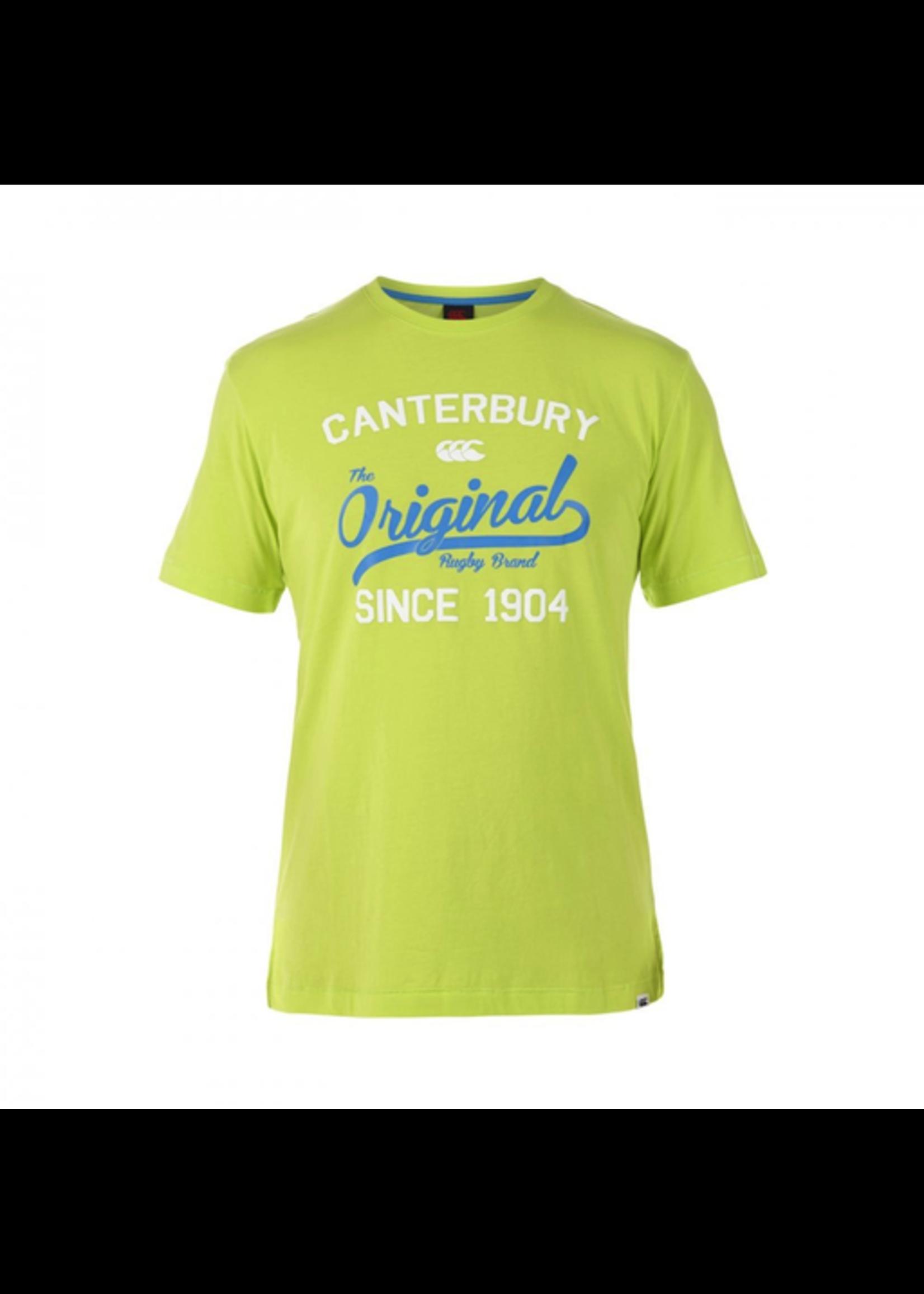 Canterbury Canterbury Original Rugby Tee Mens T-shirt. Lime Punch L