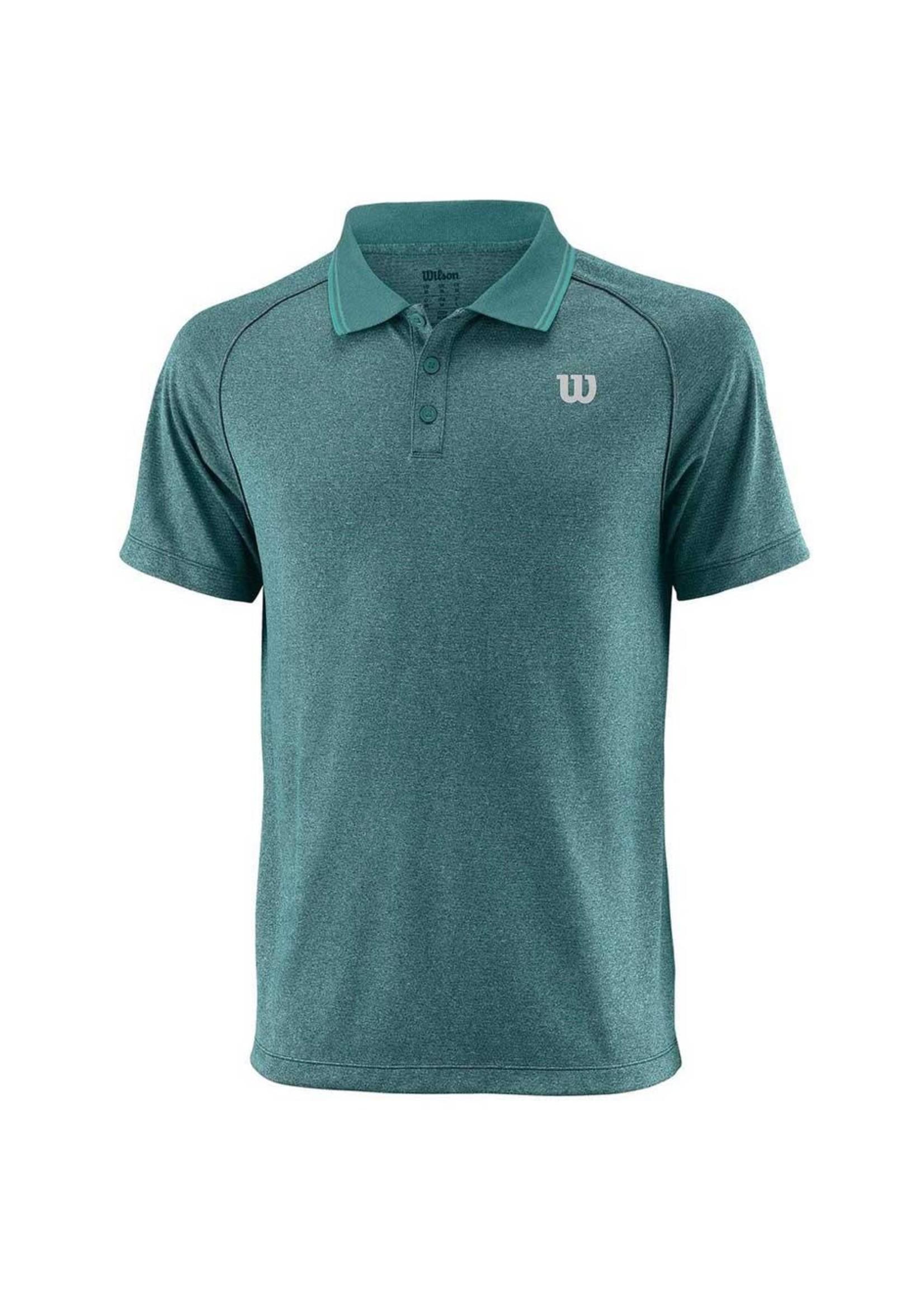 Wilson Wilson Sport Mens Core Polo Shirt (2018) Deep Lake XL
