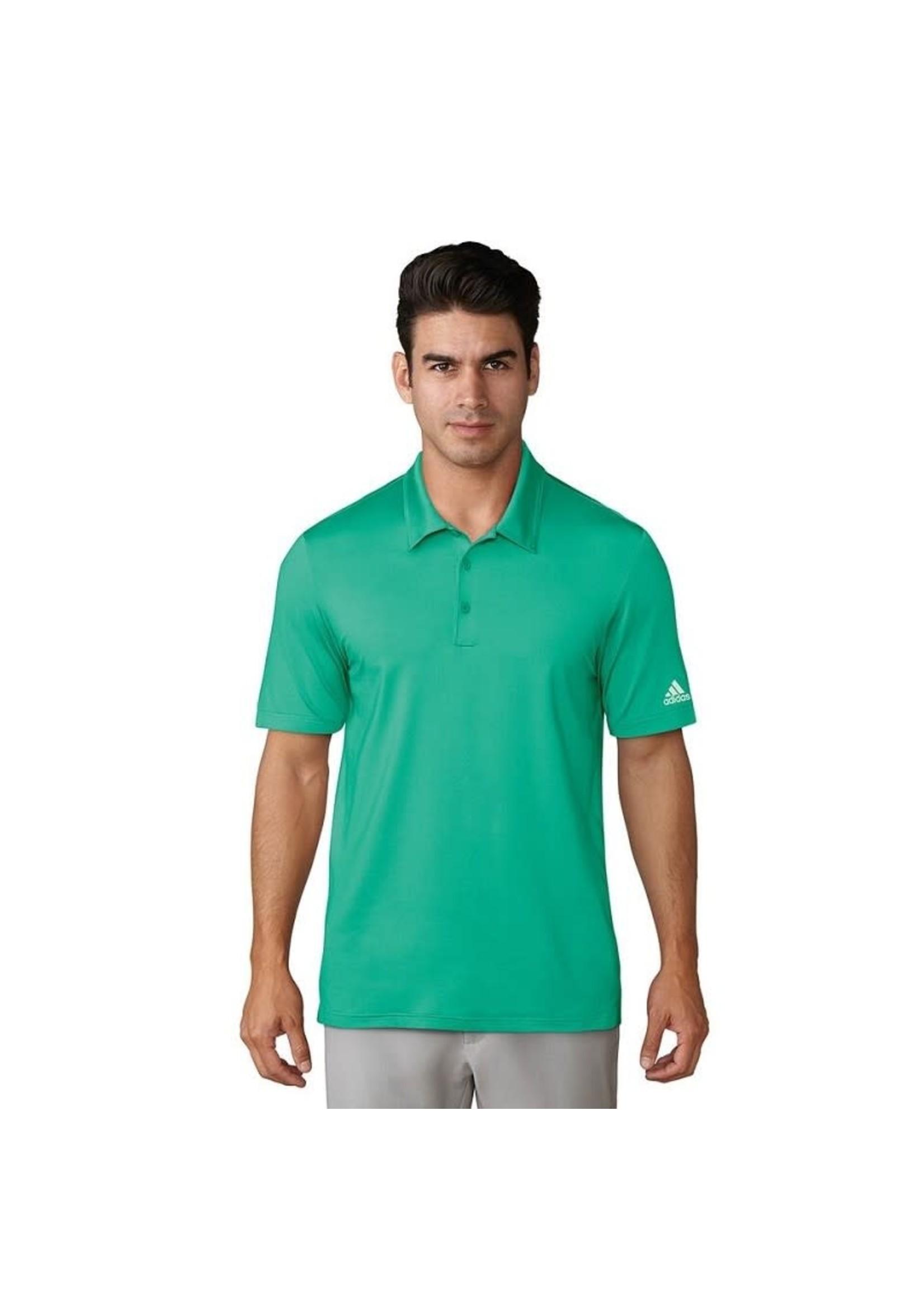 Adidas Adidas Mens Ultimate 365 Solid Polo Shirts, Hi-Res Green (2018) XL