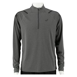 Asics Asics Mens Icon LS 1/2 Zip Top, Dark Grey/Heather XL
