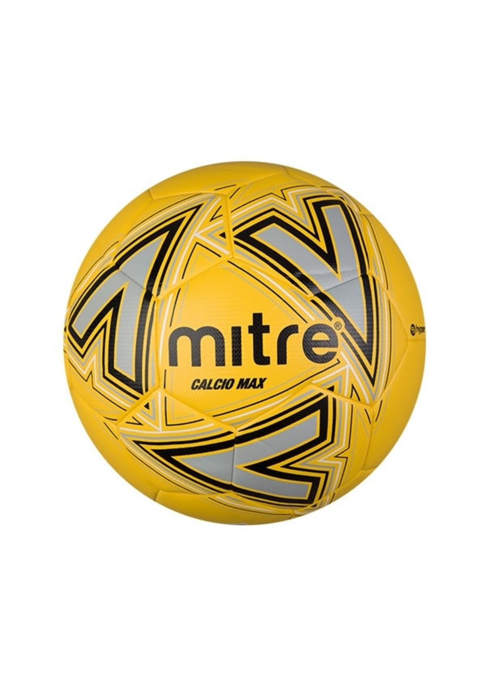 mitre Mitre Calcio Max Football, Yellow/Black, Size 5