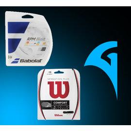 Babolat RPM Blast / Wilson Sensation Plus Restring