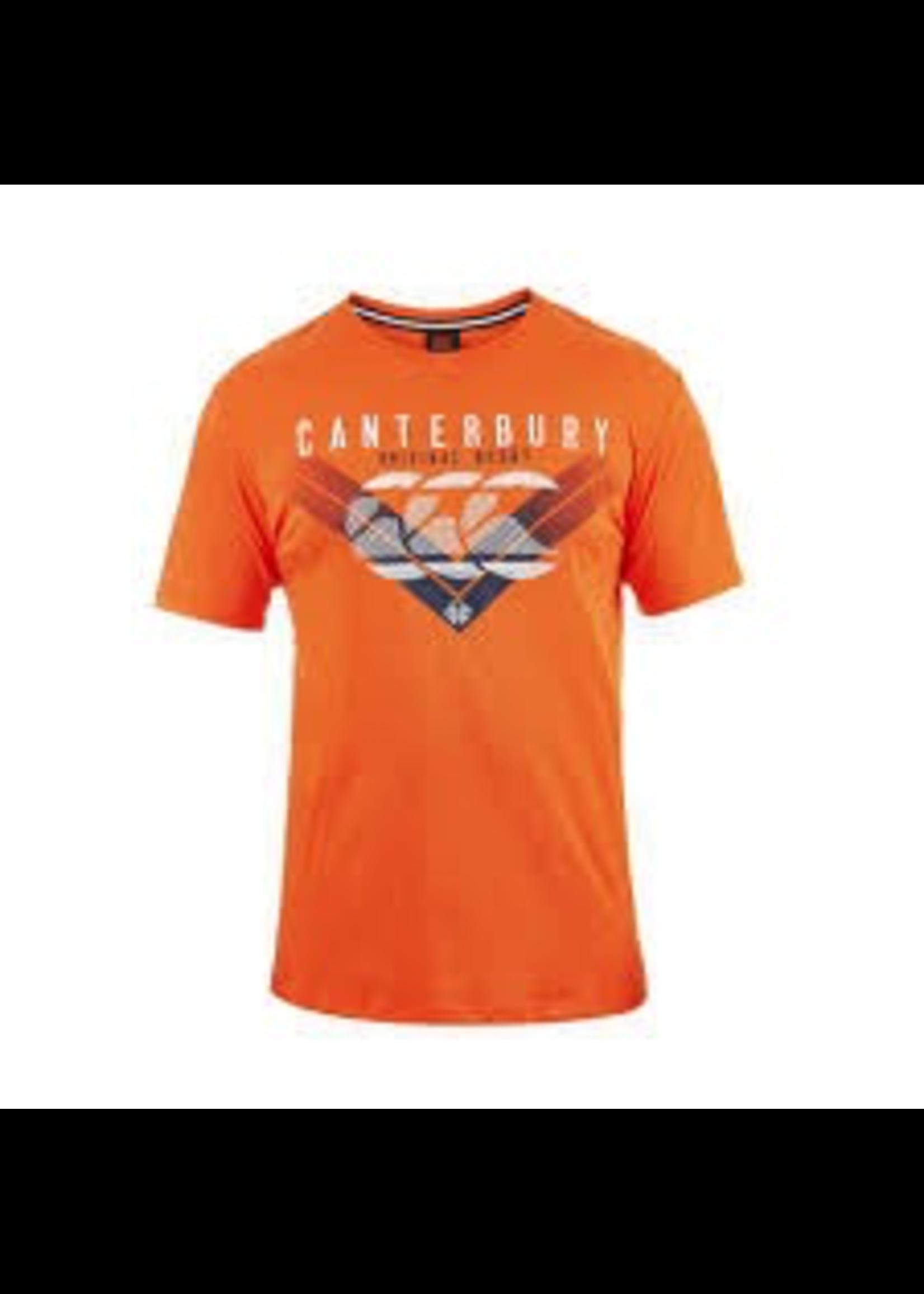 Canterbury Canterbury Mens Chevron Fade T-Shirt Bright Orange XL