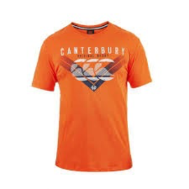 Canterbury Canterbury Mens Chevron Fade T-Shirt Bright Orange XL