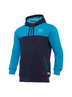 Macron Macron SRU M20 Leisure Cotton Hoody Full Zip (2020/21), Junior, Teal/Navy/Blue