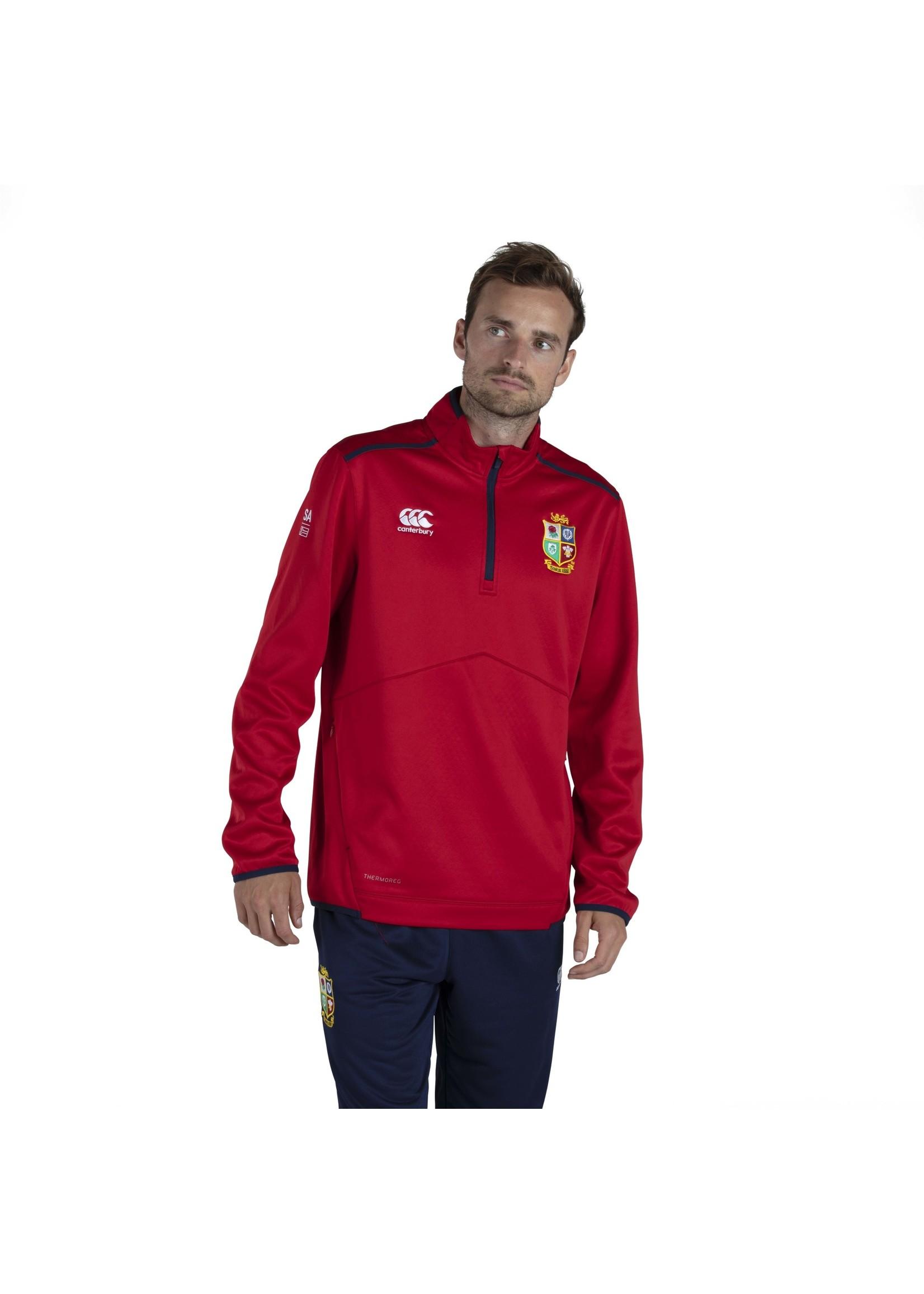 Canterbury British & Irish Lions - Mens Thermoreg Quarter Zip Fleece (2021) - RED