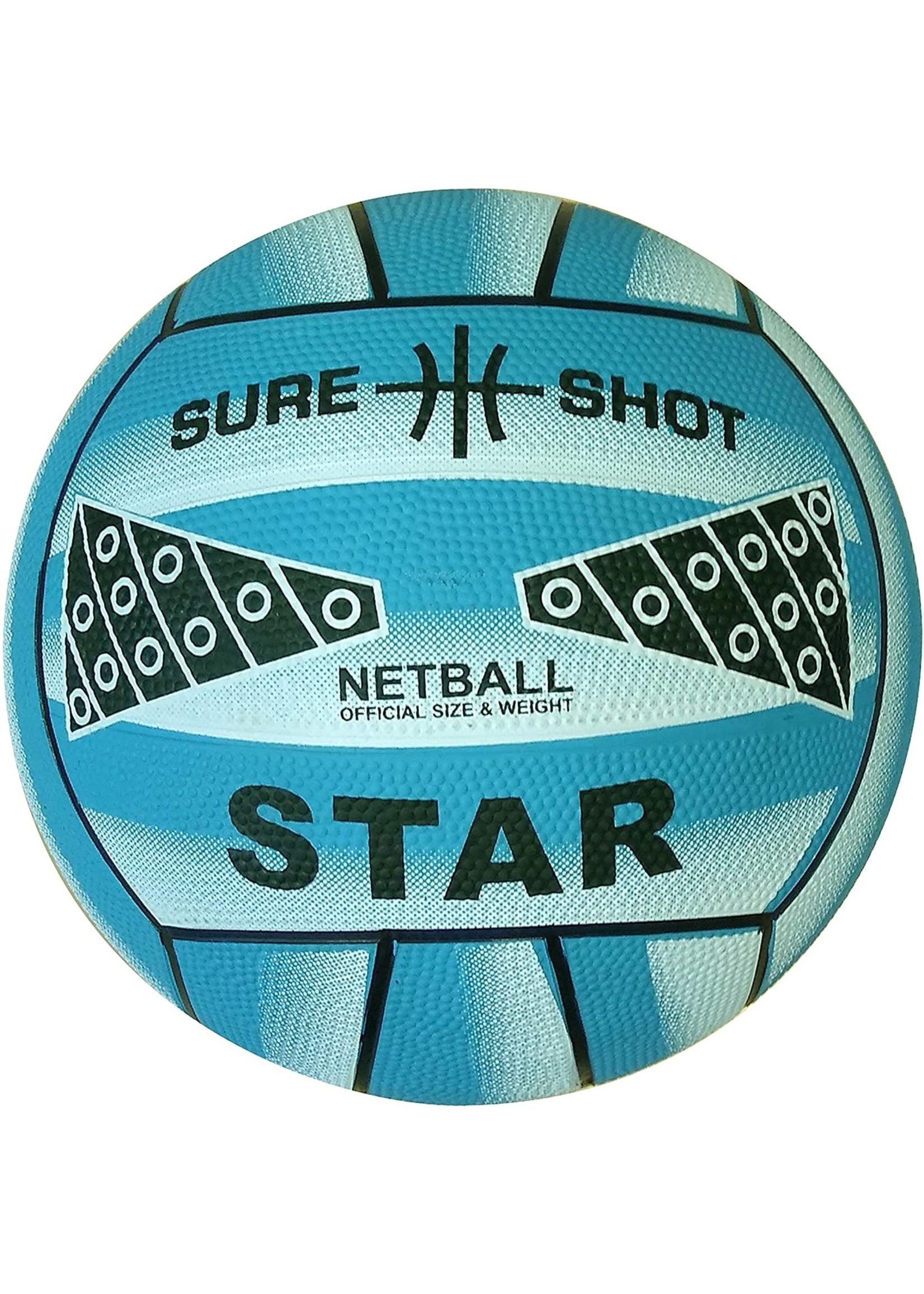 Sure Shot Star Moulded Netball, Blue (2021)
