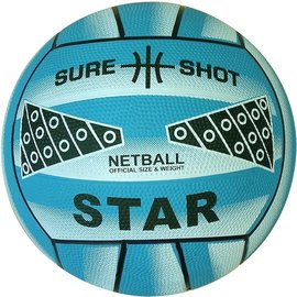 Sure Shot Star Moulded Netball, Blue (2021)