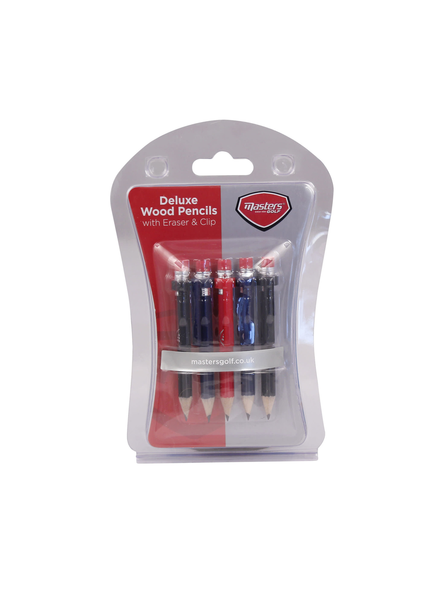 Masters Masters Golf - Wood Pencils with Clip and Eraser x 5