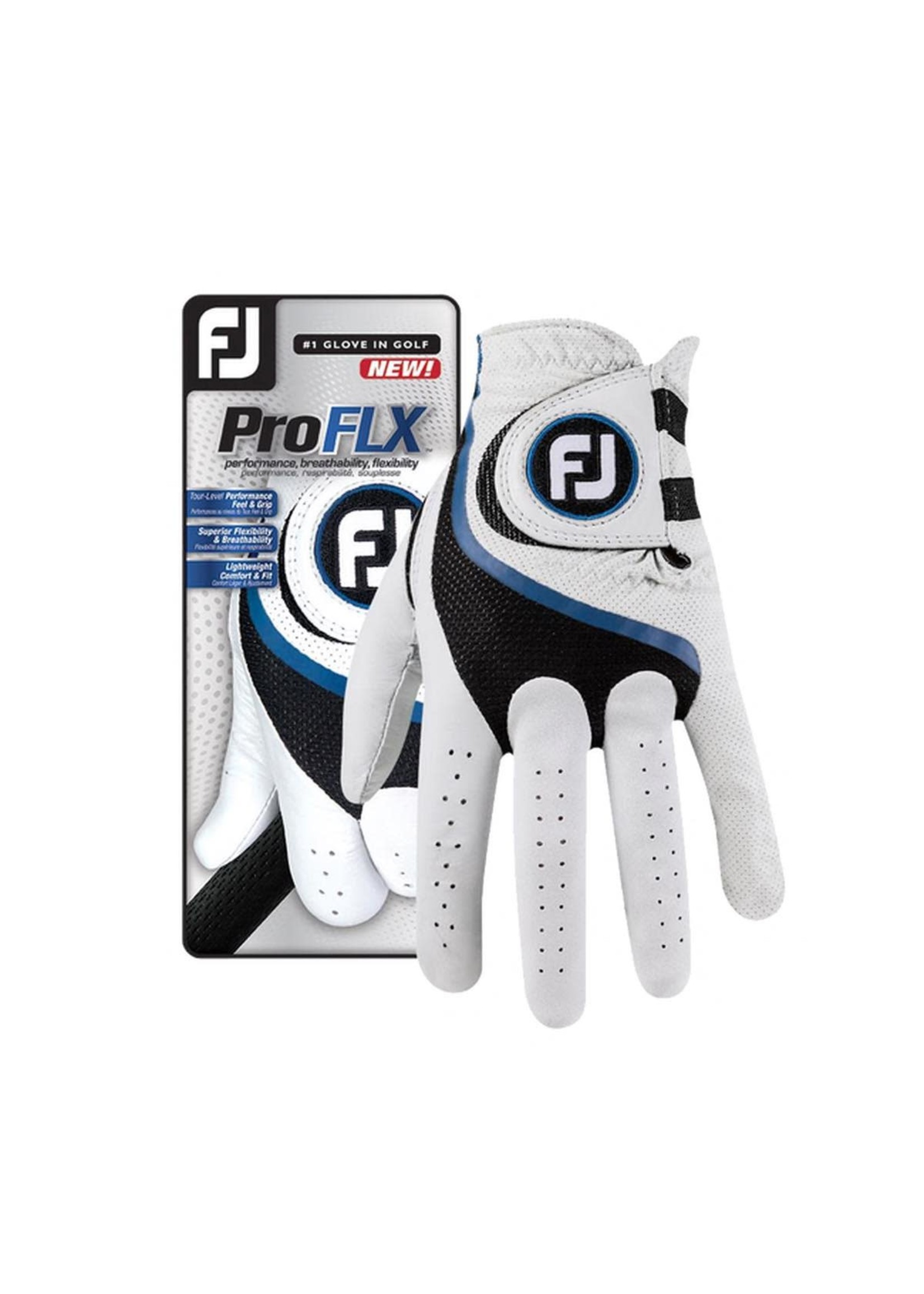 Footjoy Footjoy Pro FLX Ladies LH Golf Glove, White/Black/Blue