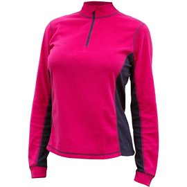 Catmandoo Sania Ladies 1/4 Zip Microfleece Midlayer, Pink/Navy