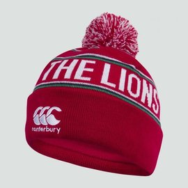 Canterbury British & Irish Lions - Fleece Lined Bobble Hat, Red
