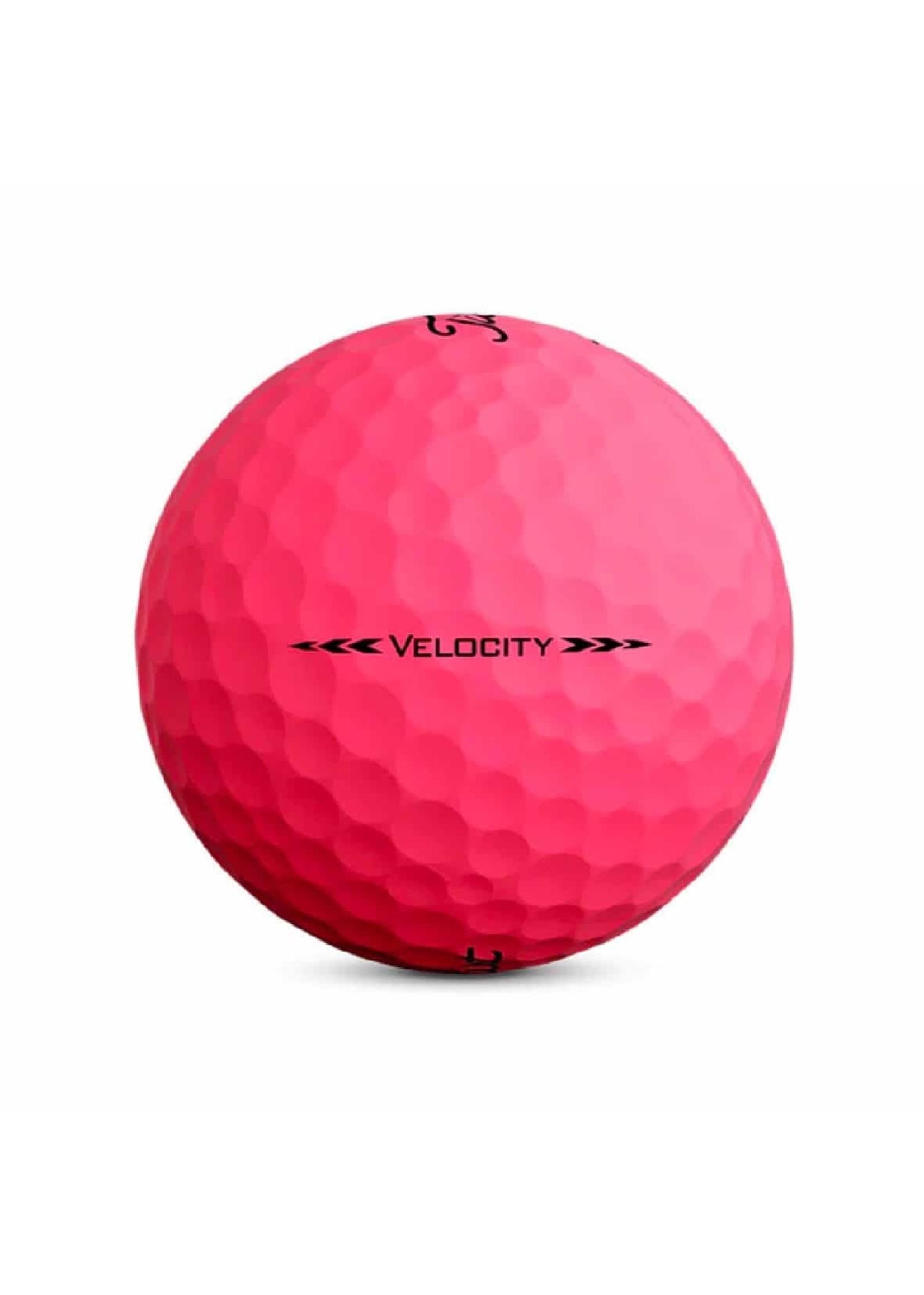 Titleist Titleist Velocity Golf Ball, Sleeve of 3, Pink (2020)