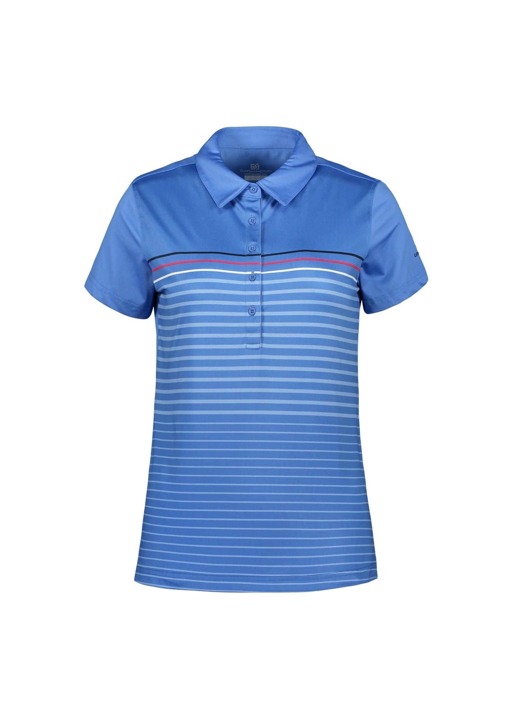Catmandoo Spry Ladies Polo Shirt, Blue/Red/White
