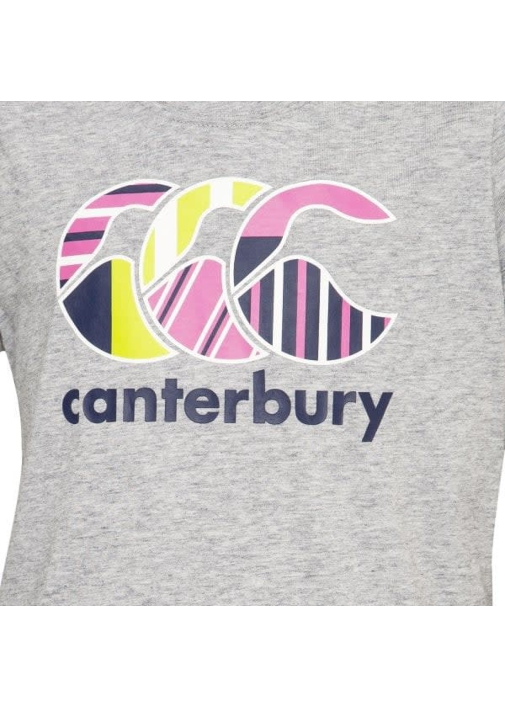 Canterbury Canterbury Girls Uglies Tee (2020/21), Grey/Pink/Navy/Lime
